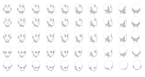 Head angles chart by Flipfloppery