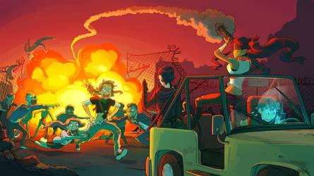 Zombie AU! by Flipfloppery