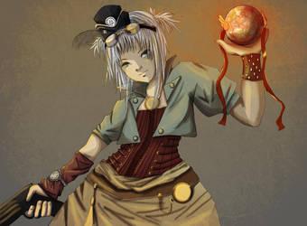 Steampunk girl by Di-Din