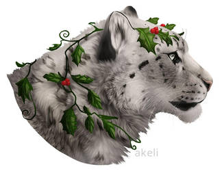 Snow and Holly by akeli