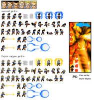 Teen/GT Goten sprites by Saiyagami