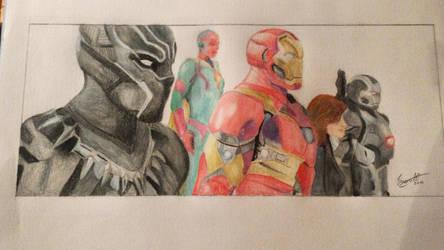 Captain America: CIVIL WAR - Team Iron Man by meerkat--love