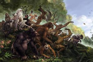 Many monkeys by EastMonkey