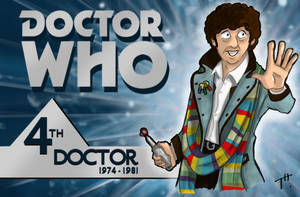 Doctor Who: The Fourth Doctor by TonyTheToonist