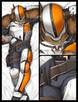 Destiny:Lord Shaxx Dakimakura by ooshima222
