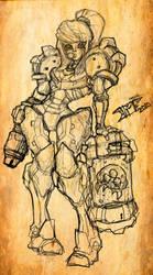 Sketch SAMUS METROID 7212010 by Warhound-CMP