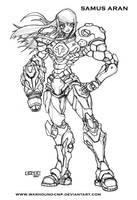 SAMUS ARAN PED INKS  Metroid by Warhound-CMP