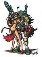 Colors Boba Fett Slave Leia 2 by Warhound-CMP