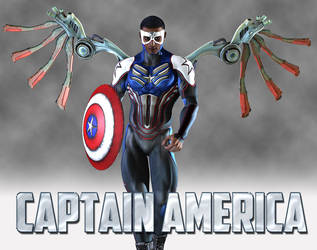 Sam Wilson: Captain America by shaft73