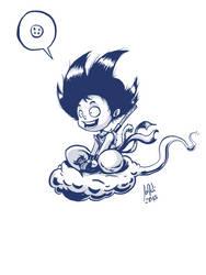 Goku in blue by JordiHP