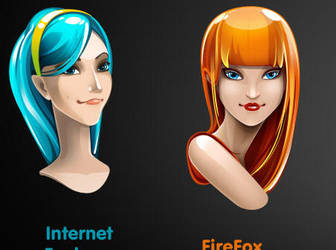 Girl icons by FreeIconsFinder