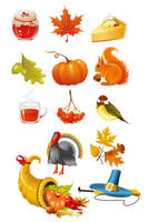 autumn icons vector graphics by FreeIconsFinder