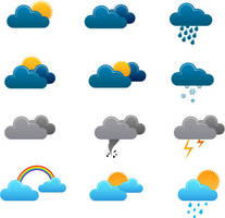 Weather icons vector graphics by FreeIconsFinder