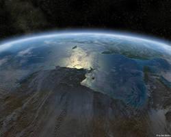 Earth Close up by sanmonku