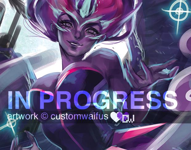MidnightSparkle progress2 by customwaifus