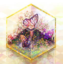 Cube terrarium by longestdistance