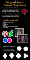 Digital stained glass coloring tutorial by longestdistance