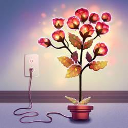 Light-up flowers. by longestdistance