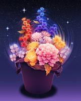 Flowers in a trash can. by longestdistance
