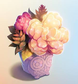Owl planter. by longestdistance