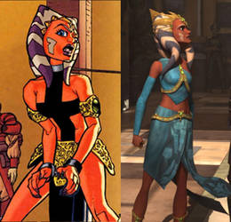 Ahsoka Slave Princess revealed by The-First-Magelord