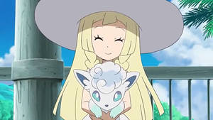 Lillie have nicknamed her Alolan Vulpix, Snowy by WillDynamo55