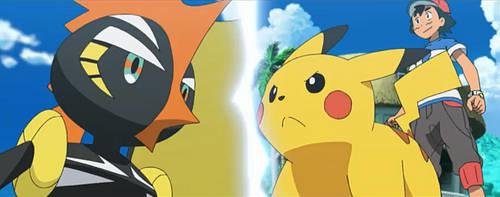 Ash vs Tapu-Koko (Round 2) by WillDynamo55