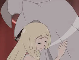 Lillie hugs Silvally by WillDynamo55