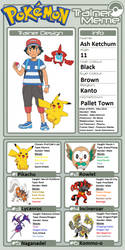 Trainer Profile: Ash Ketchum by WillDynamo55