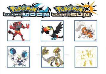 My Team from Ultra Sun Game by WillDynamo55