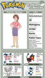 Trainer Profile: Delia Ketchum (BC-LS) by WillDinoMaster55