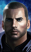Shepard Commander Paragon by xla-hainex