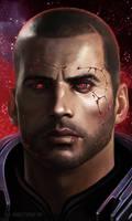 Shepard Commander Renegade by xla-hainex