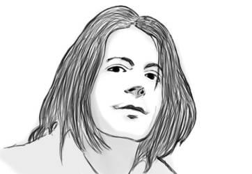 Sketch - Grant Hart of the Husker Du by NonHoVoglia