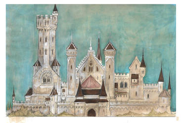 Redwall Abby Castle Concept by FairytalesArtist
