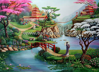 Oriental Landscape 1 by tuckersart