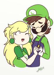 AT: Esmeralda x Luigi by SilvaLucyStar