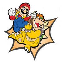 Mario v. Bowser by comicbook1287