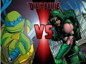 Leonardo vs. Green Arrow by 6tails6