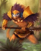 jungle warrior by wood-illustration