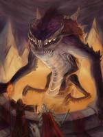 Summoned Demon by wood-illustration