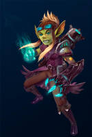 Goblin mana engineer by wood-illustration