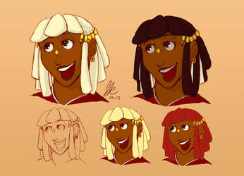 Ronou Redesign - Hair Test by miluette