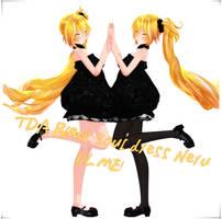 TDA Black soul dress Neru+DL by TsurudaRin
