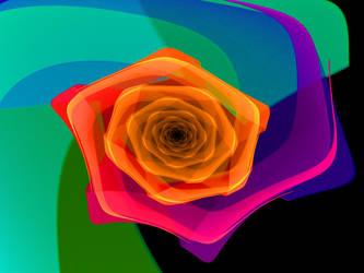 Rainbow Rose by BlueDisciple