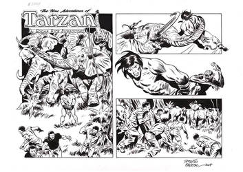 TARZAN#3767 ORIGINAL ART by benitogallego