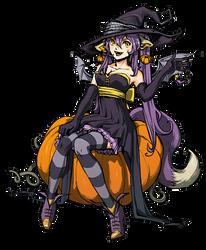 Kitsuko halloween by Ninjin-nezumi