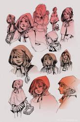 Little Red sketch dump by Ninjin-nezumi