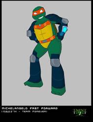 Michelangelo  TMNT 7 X by Netrorev