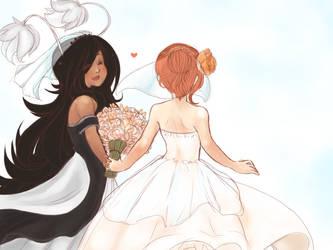 brides by moon-beams